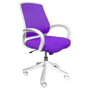 Comfort Products Iona Mesh Computer and Desk Office Chair, Adjustable Arms, Purple (60-51840013)