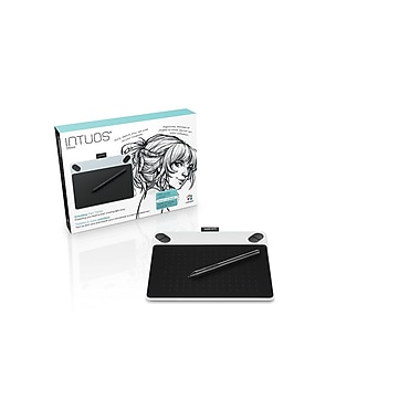 Wacom Intuos Draw Creative Pen Tablet, Small, White