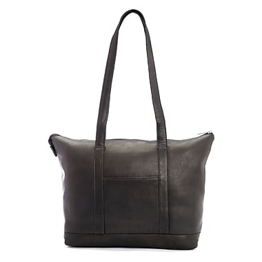 Royce Leather Luxury 24 Hour Women's Travel Tote Bag in Handcrafted Colombian Genuine Leather, Black