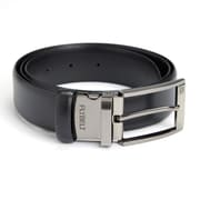 Royce Leather Black American Genuine Leather Made in USA Airport Friendly Travel Belt, Size 34 (1050-BL34-5)