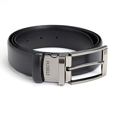 Royce Leather Made in USA Airport Friendly Travel Belt, American Genuine Leather, Size 40, Black, (1050-BL40-5)
