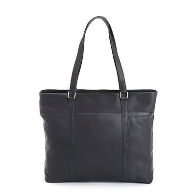 Royce Leather Carryall Women's Tote Bag, Black, Colombian Leather (657-BLACK-VL)