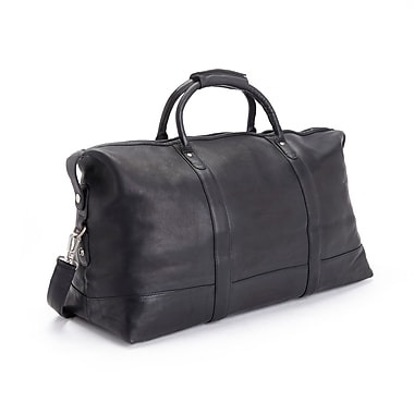Royce Leather Luxury Duffel Bag Luggage in Handcrafted Colombian Genuine Leather, Gold Foil Stamping, Full Name