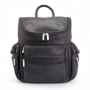 Royce Leather 15in Laptop Backpack in Black Colombian Leather (681-BLACK-VL)