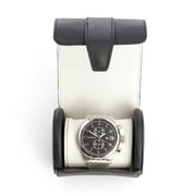 Royce Leather Travel Watch Roll, Fits 1 Watch, Black, Leather with Suede Interior (933-BLACK-5)