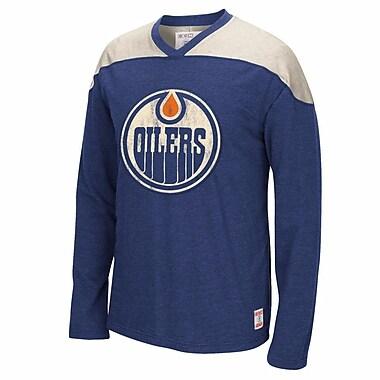 Reebok CCM Edmonton Oilers Long Sleeve Applique Crew, XX Large