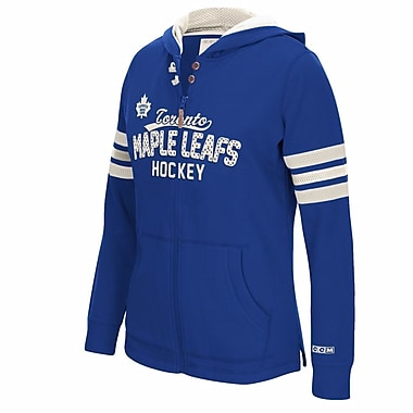Reebok CCM Toronto Maple Leafs Ladies Full-Zip Hoodie, X Large