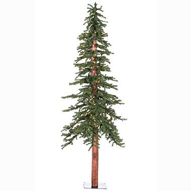 Vickerman 7' Natural Alpine Green Artificial Christmas Tree w/ 300 Clear Lights