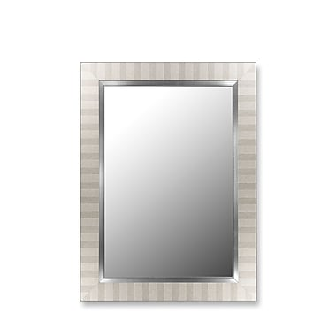 Hitchcock Butterfield Company Parma Silver and Satin Nickel Wall Mirror; 26'' H x 62'' W