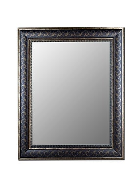 Hitchcock Butterfield Company Bordeaux Bronze Gold Scroll Wall Mirror; 46.5''H x 34.5''W x 1.25''D