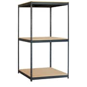 Salsbury Industries Solid 3 Shelf Shelving Unit Starter; 84'' H x 48'' W x 36'' D