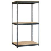 Salsbury Industries Solid 3 Shelf Shelving Unit Starter; 84'' H x 48'' W x 24'' D