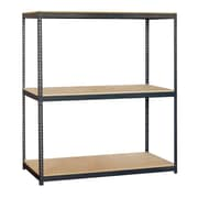 Salsbury Industries Solid 3 Shelf Shelving Unit Starter; 84'' H x 72'' W x 24'' D