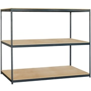 Salsbury Industries Solid 3 Shelf Shelving Unit Starter; 84'' H x 96'' W x 36'' D