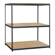Salsbury Industries Solid 3 Shelf Shelving Unit Starter; 84'' H x 72'' W x 36'' D