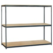 Salsbury Industries Solid 3 Shelf Shelving Unit Starter; 84'' H x 96'' W x 24'' D