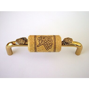 Vine Designs LLC Vineyard 4'' Center Arch Pull; Brass/Natural/Gold