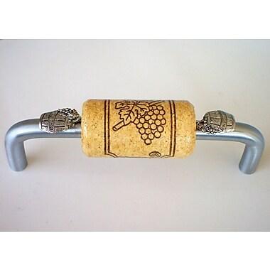 Vine Designs LLC Vineyard 4'' Center Arch Pull; Brushed Chrome/Natural/Silver