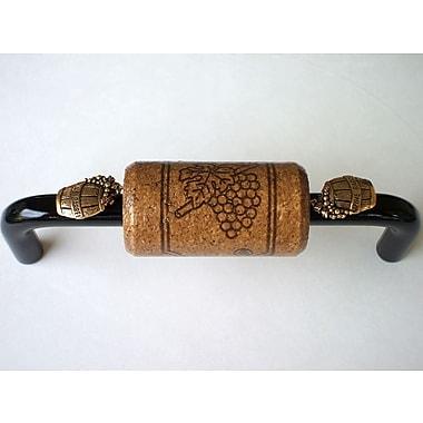 Vine Designs LLC Vineyard 4'' Center Arch Pull; Black/Espresso/Gold