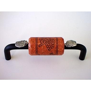 Vine Designs LLC Vineyard 4'' Center Arch Pull; Bronze/Cherry/Silver