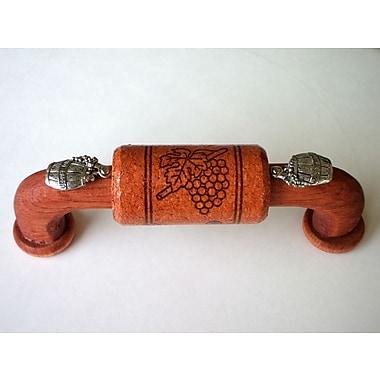 Vine Designs LLC Vineyard 4'' Center Arch Pull; Cherry/Silver