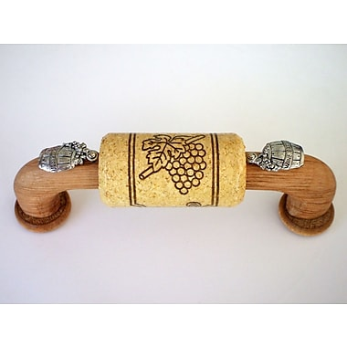 Vine Designs LLC Vineyard 4'' Center Arch Pull; Oak/Natural/Silver