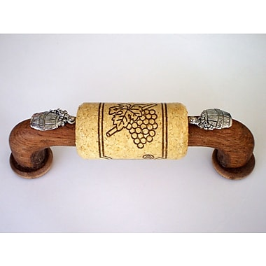 Vine Designs LLC Vineyard 4'' Center Arch Pull; Walnut/Natural/Silver