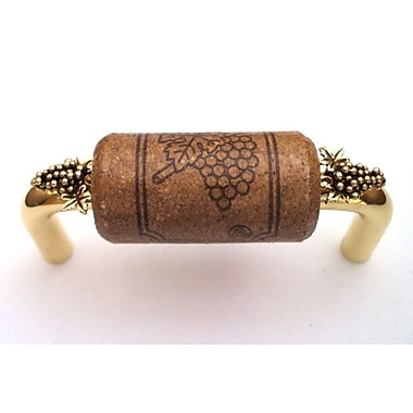 Vine Designs LLC Vineyard 3'' Center Bar Pull; Brush Brass/Espresso/Gold