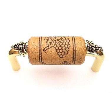 Vine Designs LLC Vineyard 3'' Center Bar Pull; Brass/Oak/Gold