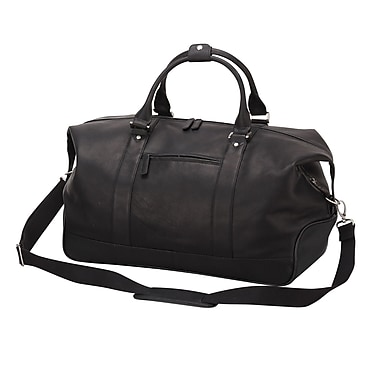 Preferred Nation Eiffel 20'' Leather Duffel; Black
