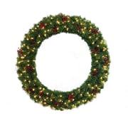 General Foam Plastics 48'' Lighted Multi Tip Semi Decorated Wreath
