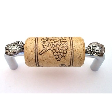 Vine Designs LLC VIneyard 3'' Center Bar Pull; Chrome/Natural/Silver