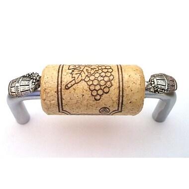 Vine Designs LLC VIneyard 3'' Center Bar Pull; Brushed Chrome/Natural/Silver