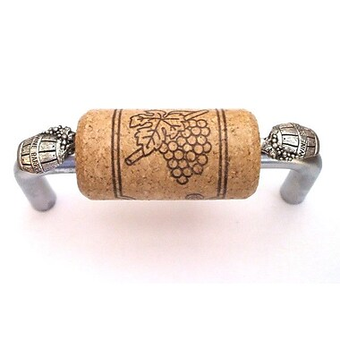 Vine Designs LLC VIneyard 3'' Center Bar Pull; Brushed Chrome/Walnut/Silver