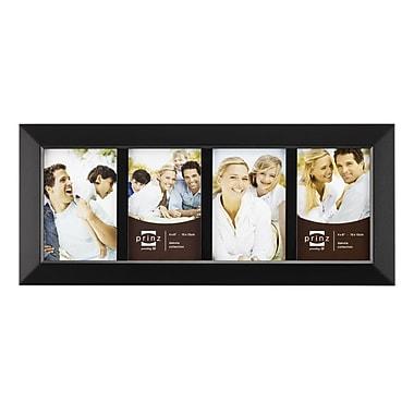Prinz Four Opening Dakota Solid Wood Picture Frame; Black