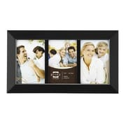 Prinz Three Opening Dakota Solid Wood Picture Frame; Black