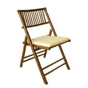 ZEW Folding Dining Chair w/ Cushion