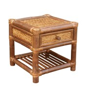 ZEW Bamboo Wood  End Table