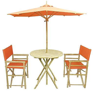 ZEW 4 Piece Dining Set; Pottery