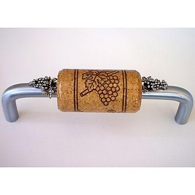 Vine Designs LLC Vineyard 4'' Center Bar Pull; Brushed Chrome/Walnut/Silver