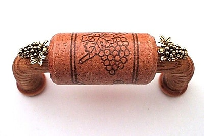 Vine Designs LLC Vineyard 3'' Center Bar Pull; Cherry/Gold