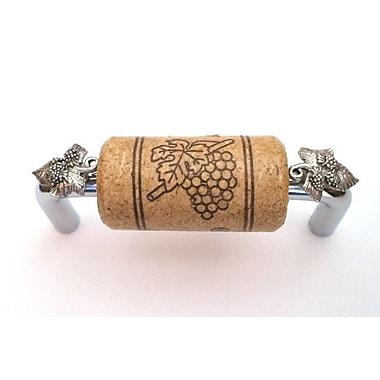 Vine Designs LLC Vineyard 3'' Center Bar Pull; Chrome/Walnut/Silver