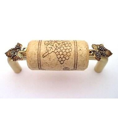 Vine Designs LLC Vineyard 3'' Center Bar Pull; Brush Brass/Natural/Gold
