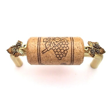 Vine Designs LLC Vineyard 3'' Center Bar Pull; Brush Brass/Walnut/Gold