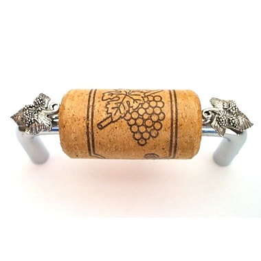 Vine Designs LLC Vineyard 3'' Center Bar Pull; Chrome/Oak/Silver