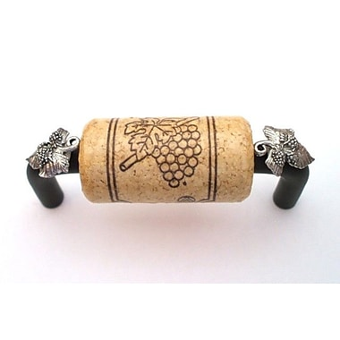 Vine Designs LLC Vineyard 3'' Center Bar Pull; Bronze/Natural/Silver