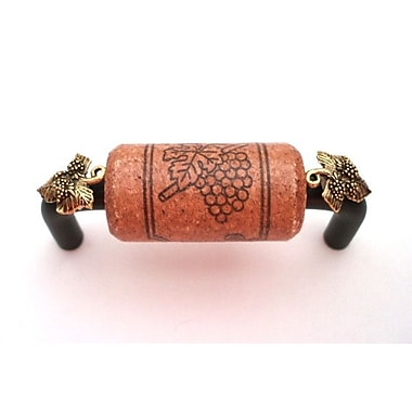 Vine Designs LLC Vineyard 3'' Center Bar Pull; Bronze/Cherry/Gold