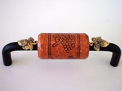 Vine Designs LLC Vineyard 4'' Center Bar Pull; Bronze/Cherry/Gold