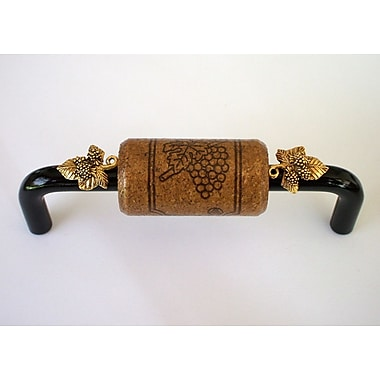Vine Designs LLC Vineyard 4'' Center Bar Pull; Black/Espresso/Gold