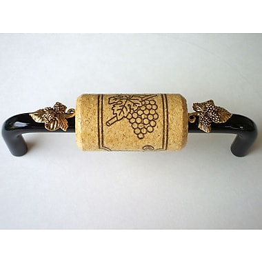 Vine Designs LLC Vineyard 4'' Center Bar Pull; Black/Natural/Gold